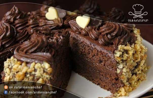 Бисквит с шоколадным кремом с фото