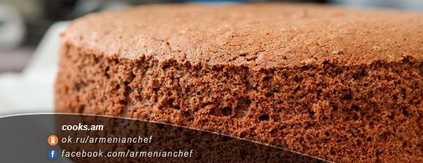 Շոկոլադե բիսկվիթ տորթի համար