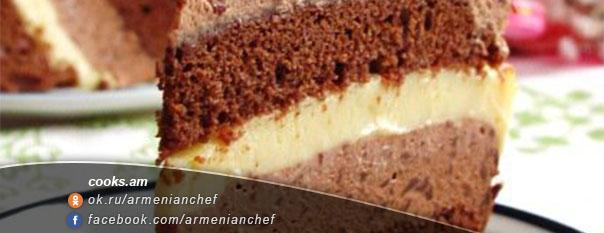 Շոկոլադե տորթ կիտրոնով