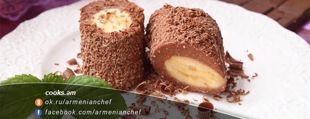Շոկոլադե-կաթնաշոռային աղանդեր բանանով