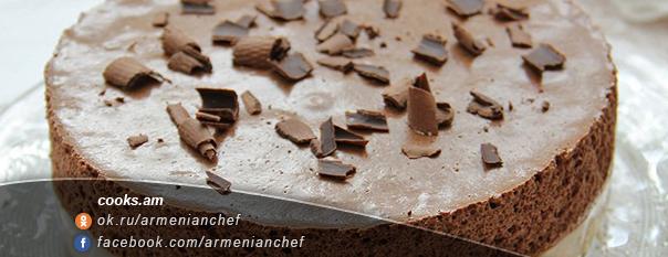 Տորթ-աղանդեր շոկոլադե-բանանային մուսսով
