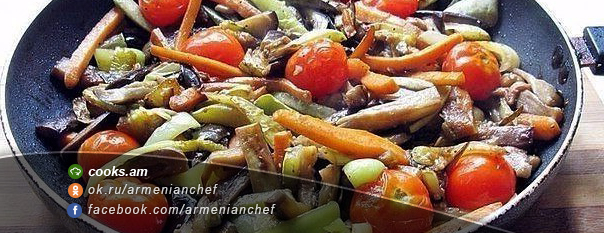Բանջարեղենով միս չինական ձևով