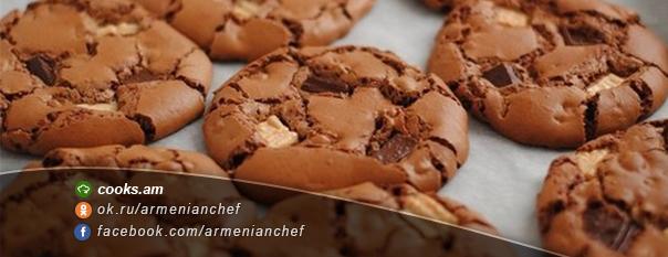 Տոնական թխվածքաբլիթ «Երեք շոկոլադ»