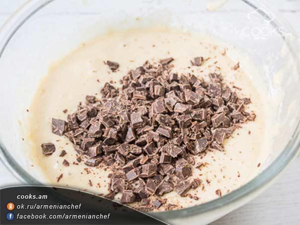 Քունջութով-ու-բանանով-շոկոլադե-կեքս-7